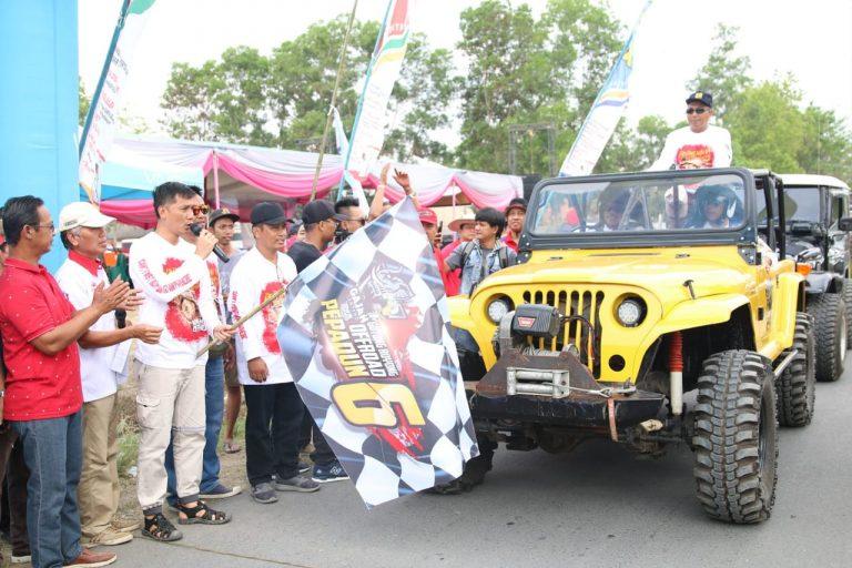 Bupati Loekman Resmi Buka Gotong Royong Offroad Pepadun