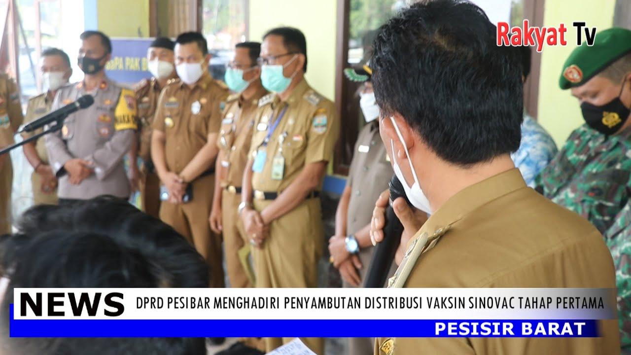 DPRD Pesibar Menghadiri Penyambutan Distribusi Vaksin Sinovac Tahap Pertama