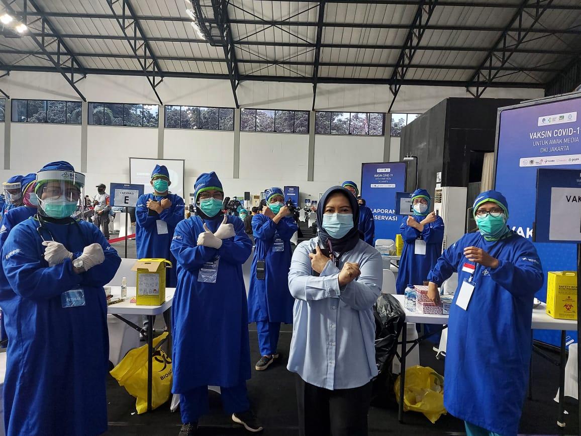 Vaksinasi Massal Covid-19: Bagaikan Reuni Akbar Insan Pers  PWI
