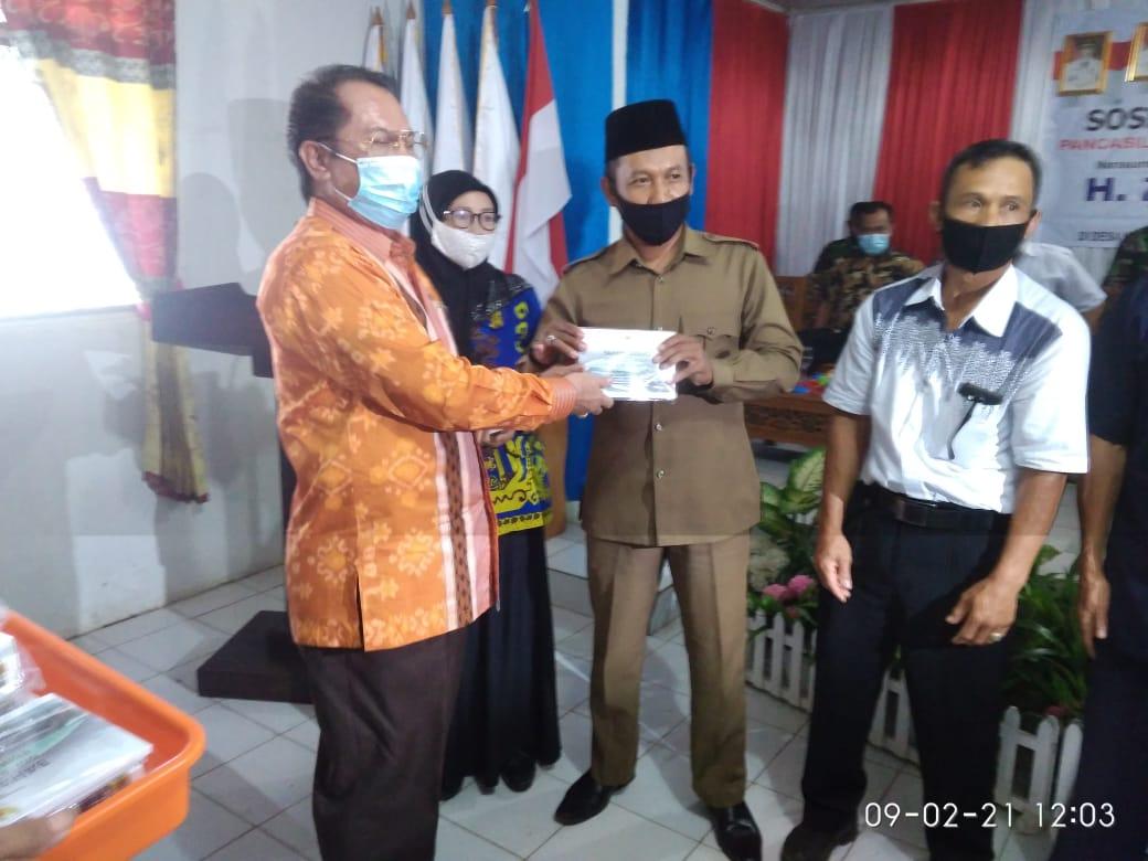 Zulkifli Anwar Sosialisasi Empat Pilar Kebangsaan di Desa Kebagusan Gedong Tataan