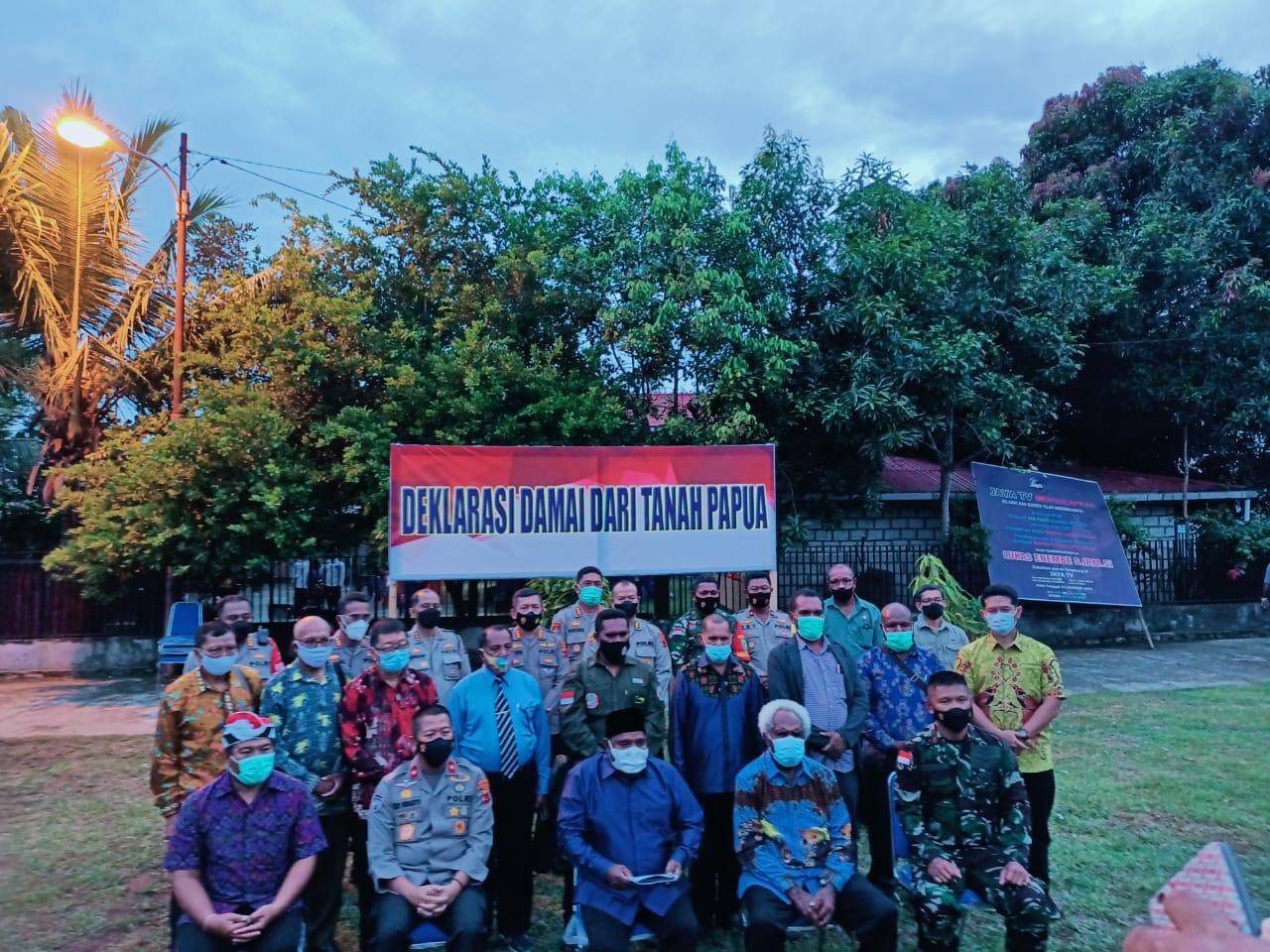 Deklarasi Damai, FKUB Bersama Seluruh Komponen di Papua Kutuk Keras Aksi Terorisme