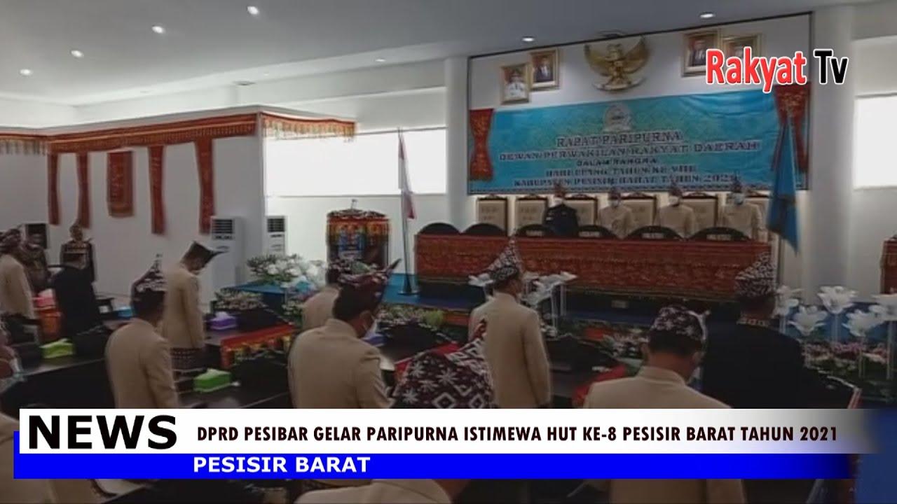 DPRD Pesibar Rapat Paripurna HUT Ke 8 Pesisir Barat