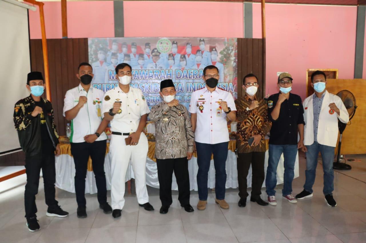 Wabub Pesibar Hadiri Musda Dengan Purna Paskibraka Indonesia